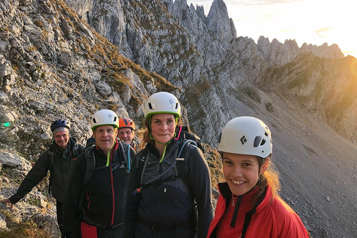 Ausflug Bergsteigen Ellmauer Halt
