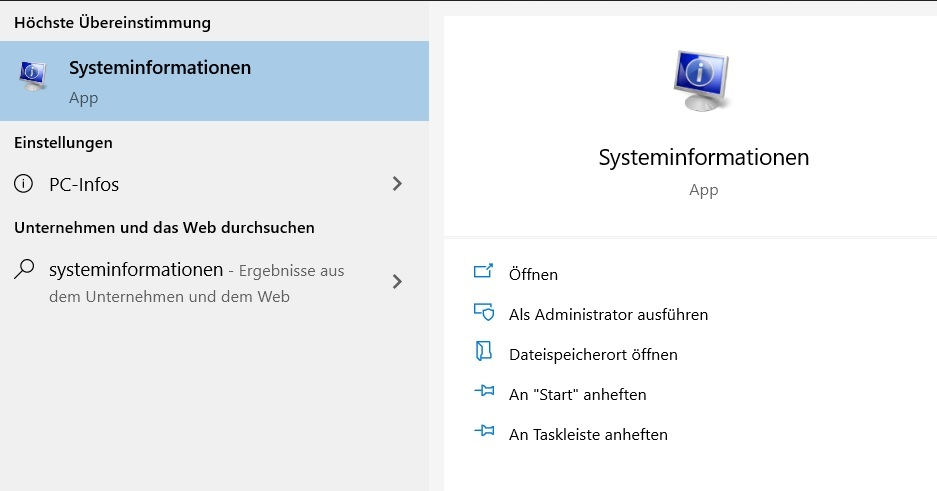 UEFI Secure Boot - Systeminformationen